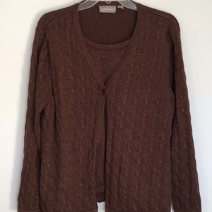 Croft & barrow 2fer sparkly sweater size 1X